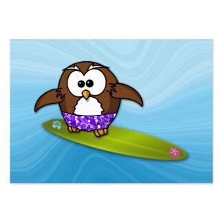 coruja do surfista modelo cartão de visita