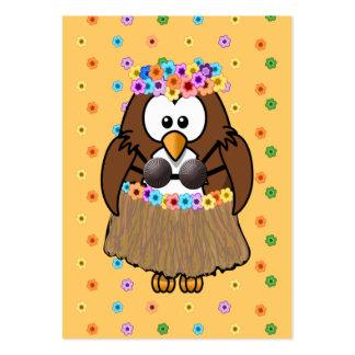 coruja do wahine cartões de visitas