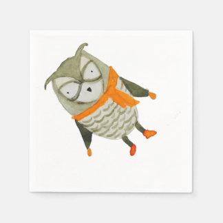 Coruja dos amigos da floresta guardanapo de papel