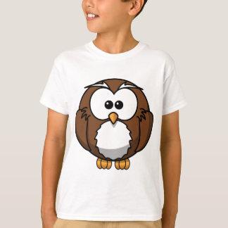 Coruja dos desenhos animados camiseta