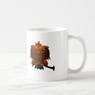Coruja dos desenhos animados - caneca de café