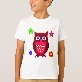 Coruja dos desenhos animados do vetor camiseta