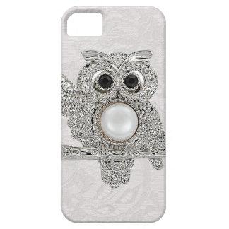 Coruja dos diamantes & IMAGEM impressa do laço de Capas Para iPhone 5