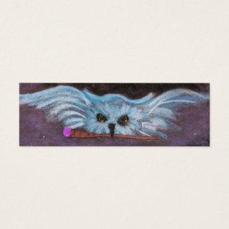 coruja e varinha cartão de visitas mini