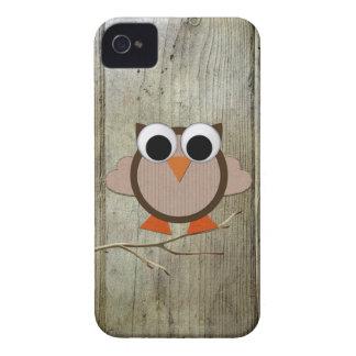 Coruja & madeira lunáticas capinha iPhone 4