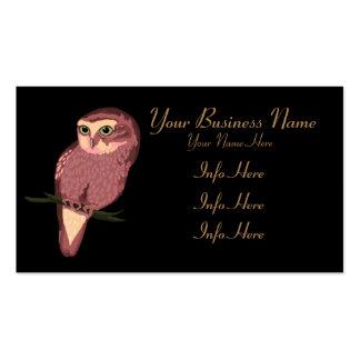 Coruja manchada bonito cartão de visita