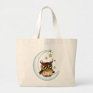 Coruja na lua bolsa para compras