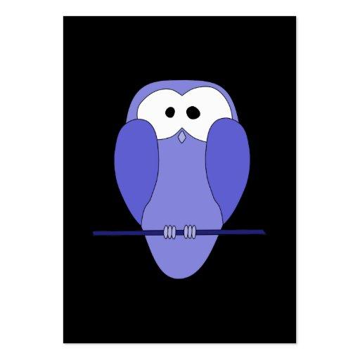 Coruja na noite. Azul, preto Modelos Cartão De Visita