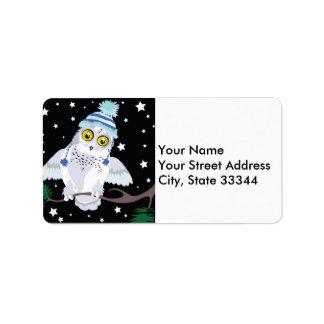 Coruja nevado com etiquetas de Hat~address