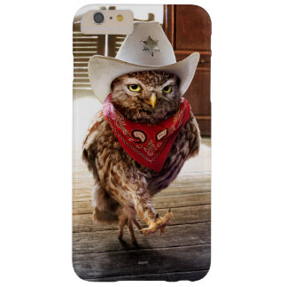 Coruja ocidental resistente do xerife com atitude capas iPhone 6 plus barely there