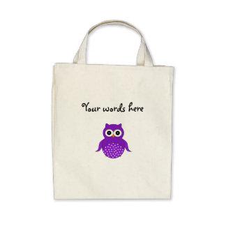 Coruja roxa bonito bolsa para compras