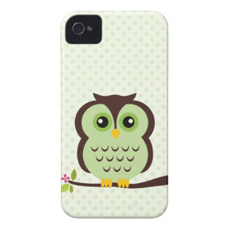 Coruja verde bonito capas para iPhone 4 Case-Mate