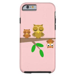 corujas bonitos e engraçadas capa tough para iPhone 6
