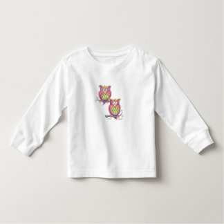 Cute owls on branches toddler shirt