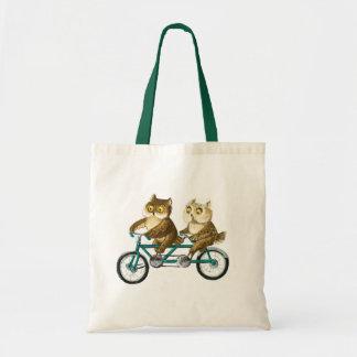 Corujas da bicicleta bolsas para compras