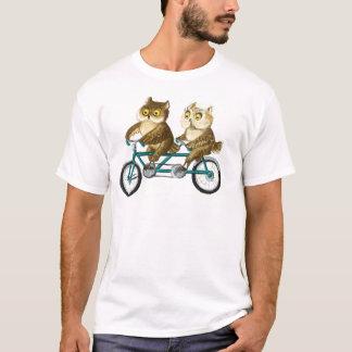 Corujas da bicicleta camiseta