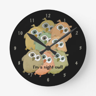 """Corujas dos desenhos animados """"eu sou uma coruja d relógio para parede"""