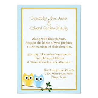 Corujas dos desenhos animados que Wedding o Convite 12.7 X 17.78cm