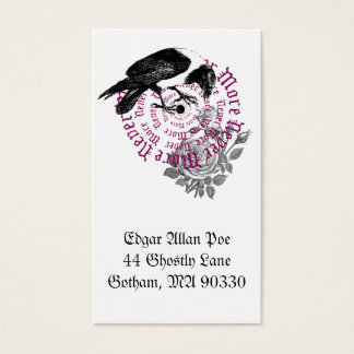 Corvo & cartão de visita cor-de-rosa