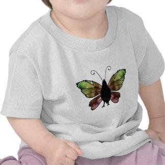 Corvo da borboleta da asa do arco-íris t-shirts