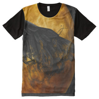 corvo da lua camisetas com impressão frontal completa