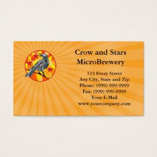 Corvo e cartão de visita do MicroBrewery das