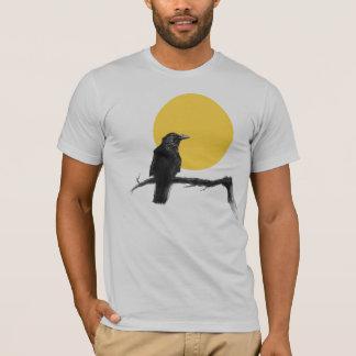 Corvo e lua camiseta