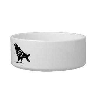 Corvo tribal personalizado do nome de animal de tijela para água para gatos