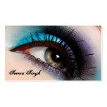 Cosméticos do maquilhador do olho do Aqua Cartão De Visita