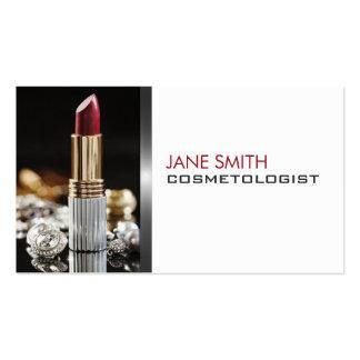 Cosmetologia do Cosmetologist do artista de compos Modelos Cartoes De Visita