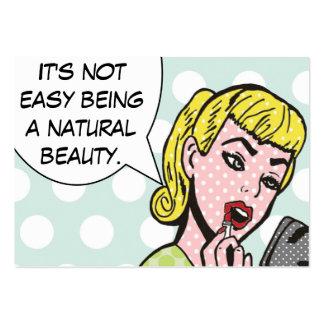 Cosmetologist da beleza/cartões naturais de cartão de visita grande