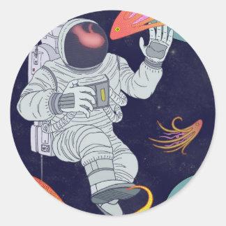 Cosmonauta Adesivo Redondo