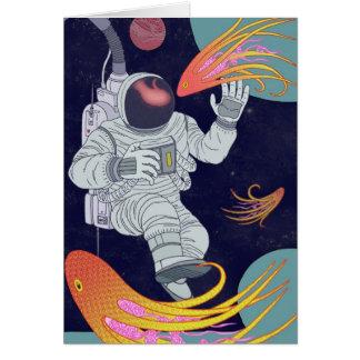 Cosmonauta Cartão Comemorativo