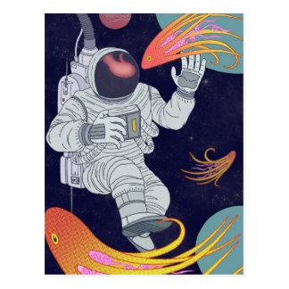 Cosmonauta Cartão Postal