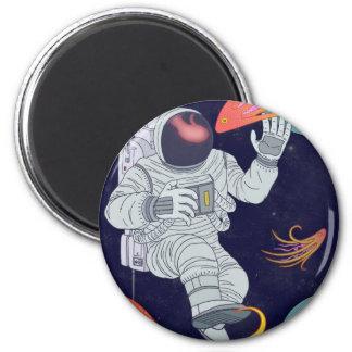 Cosmonauta Ímã Redondo 5.08cm
