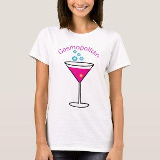 cosmopolita com as palavras cosmopolitas nele camiseta