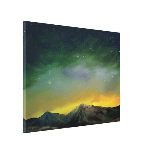 Cosmos - canvas de pintura estrelados 18x24 de Dig Impressão De Canvas Esticadas