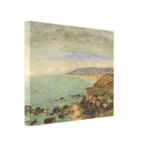 Costa atlântica de Eugene Boudin- perto de Benervi Impressão De Canvas Envolvidas