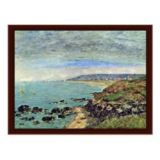 Costa atlântica em Bénerville por Boudin Eugène Cartao Postal