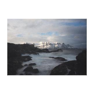 Costa de Islândia em canvas