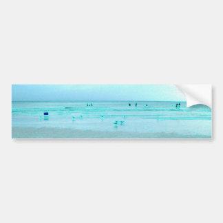 Costa do golfo com bordas coloridas adesivo para carro