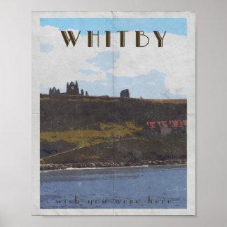 costa leste yorkshire whitby do poster de viagens