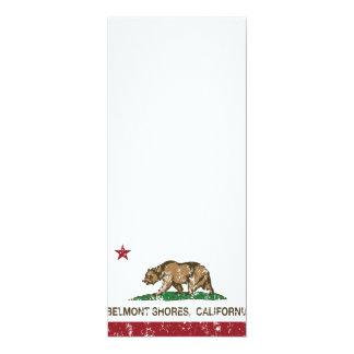 Costas de Belmont da bandeira do urso da república Convites Personalizado