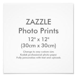 """Costume 12"""""""" modelo quadrado do impressão da foto"""