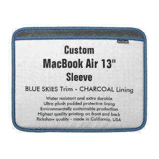 """Costume 13"""" azul & cinzas da luva de ar (h) de bolsas de MacBook air"""