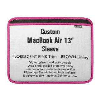 """Costume 13"""" rosa & Brown da luva de ar (h) de Bolsa Para MacBook Air"""