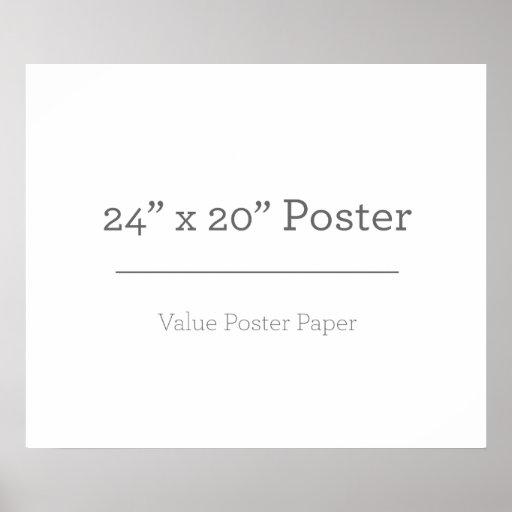 60,96cm x 50,8cm, Papel Poster Especial (Fosco)