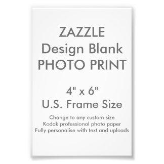 """Costume 4"""" x 6"""" impressão da foto (tamanho de"""