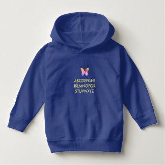 Costume azul do hoodie do pulôver da criança