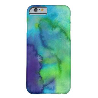 Costume azul e verde da aguarela capa barely there para iPhone 6